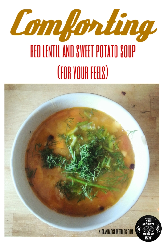 comforting red lentil and sweet potato soup